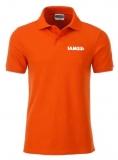 T067237 IAMS Poloshirt Herren orange S